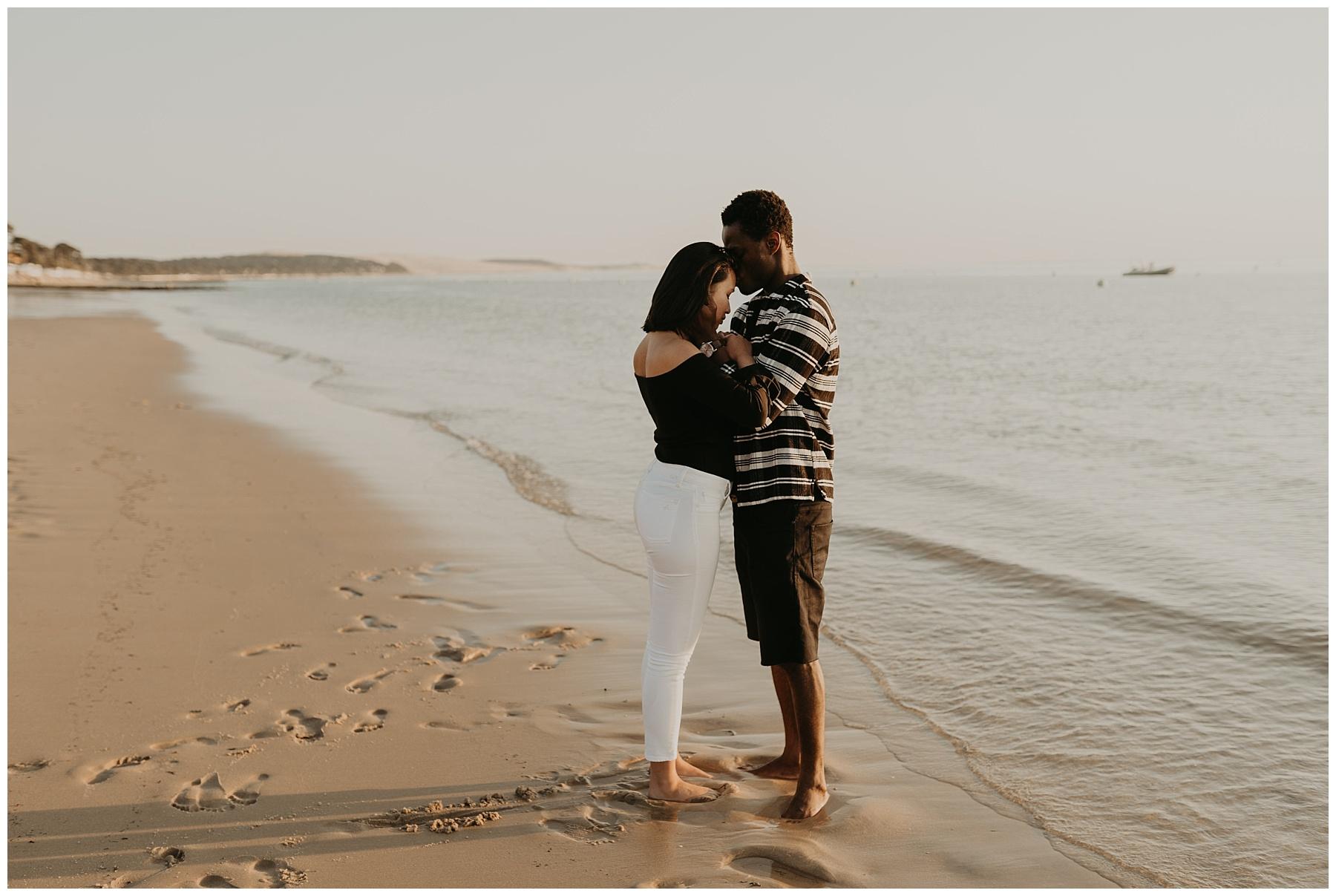 bisous sur la plage