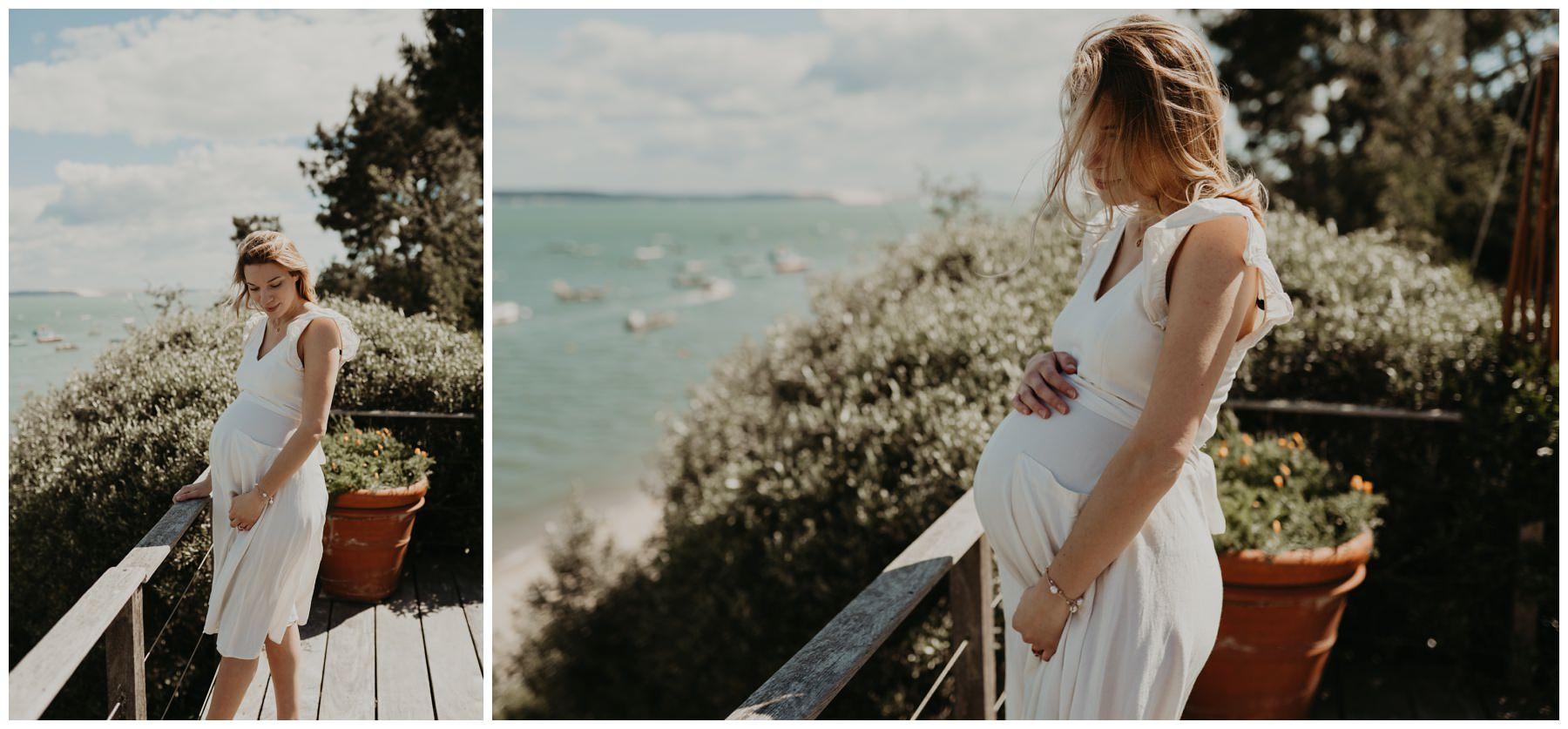 femme enceinte photographie cap ferret