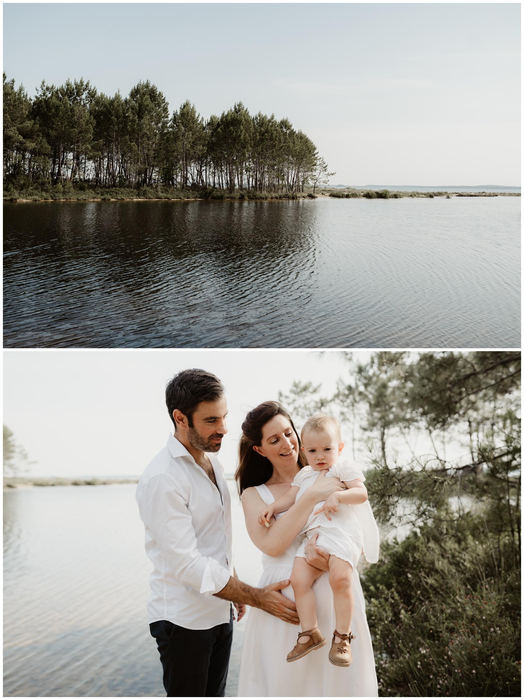 photo nature lac famille