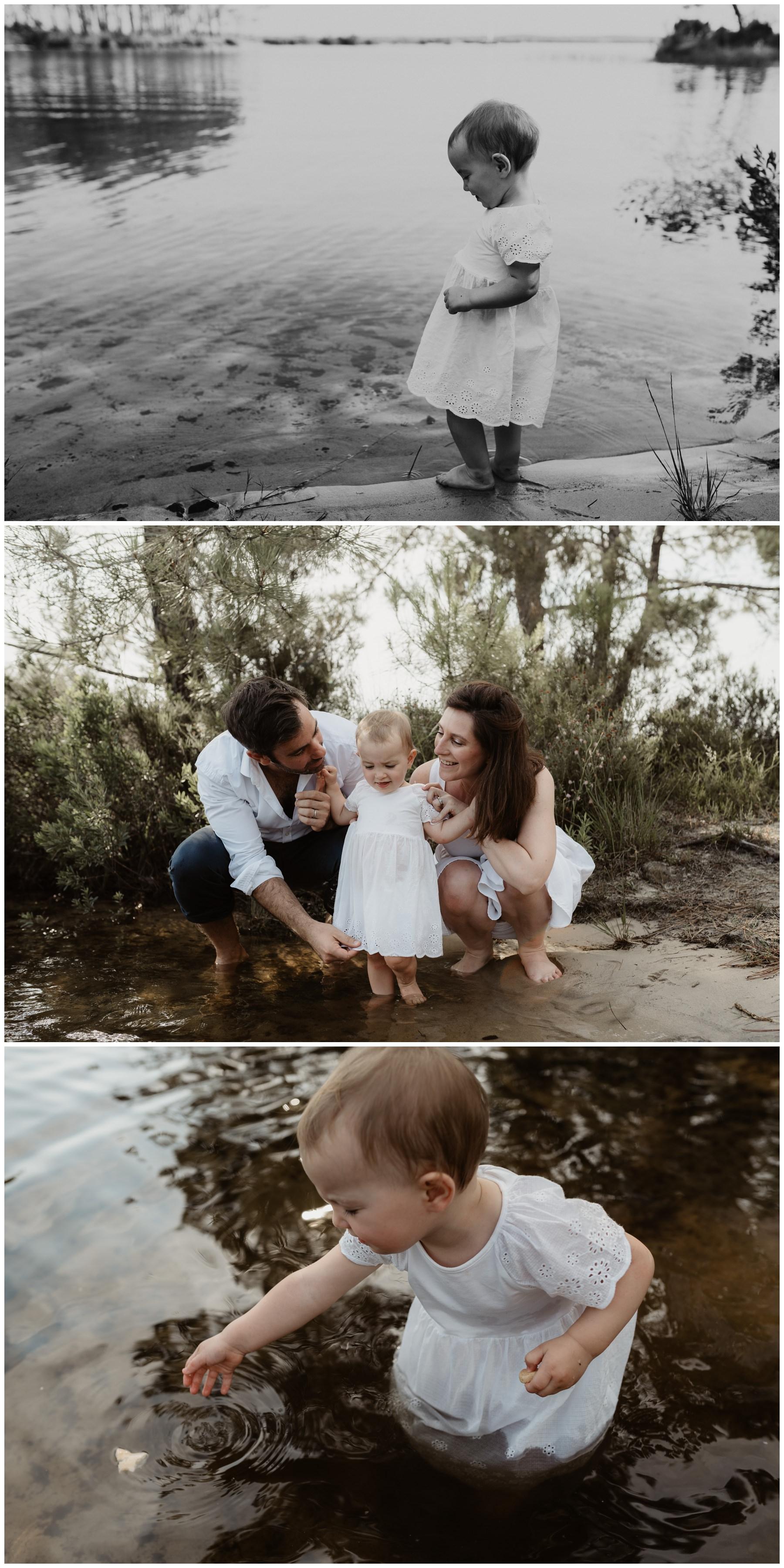 famille lac photographe