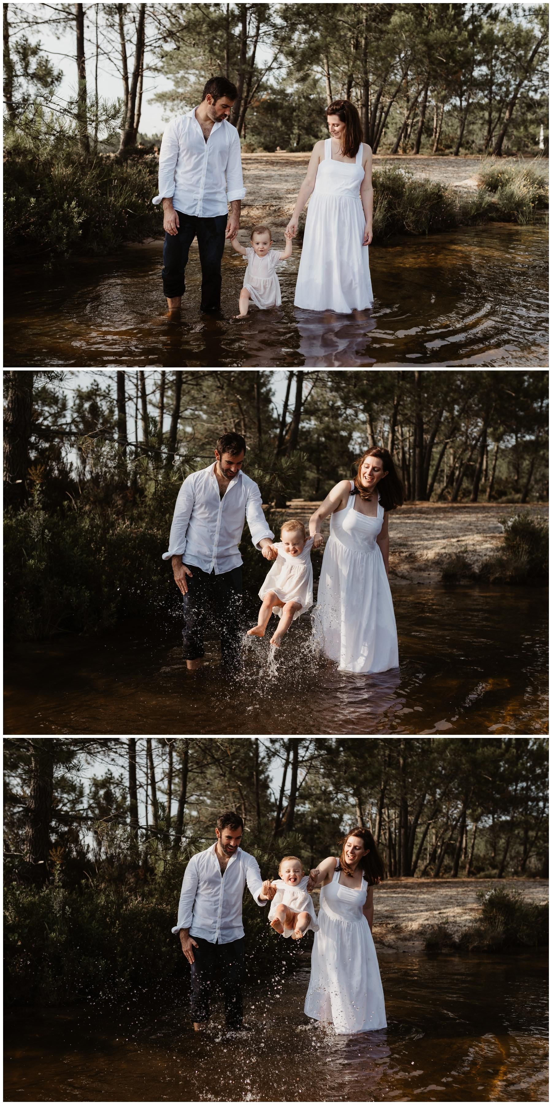 séance famille heureuse lac lacanau