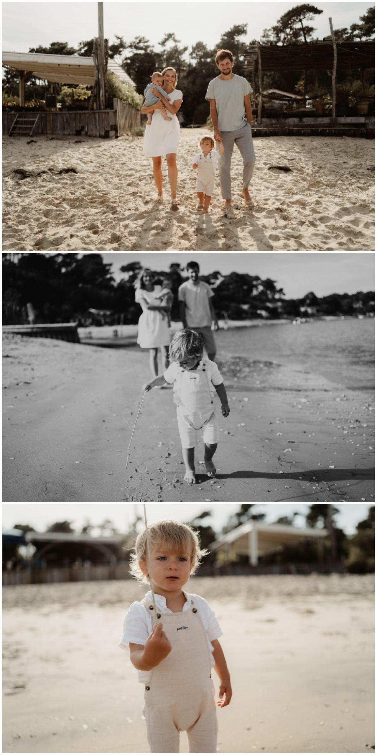 enfant famille plage