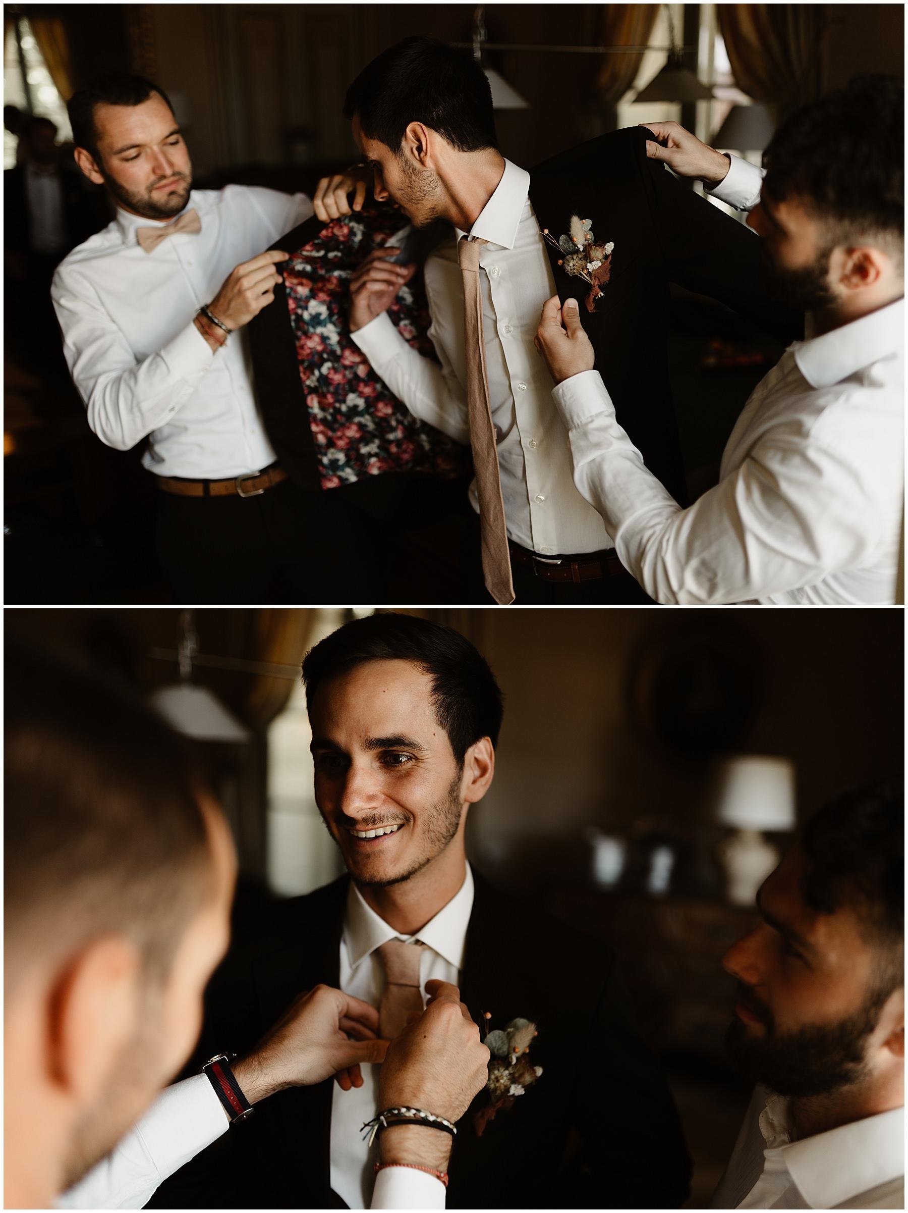 photo préparatifs marié