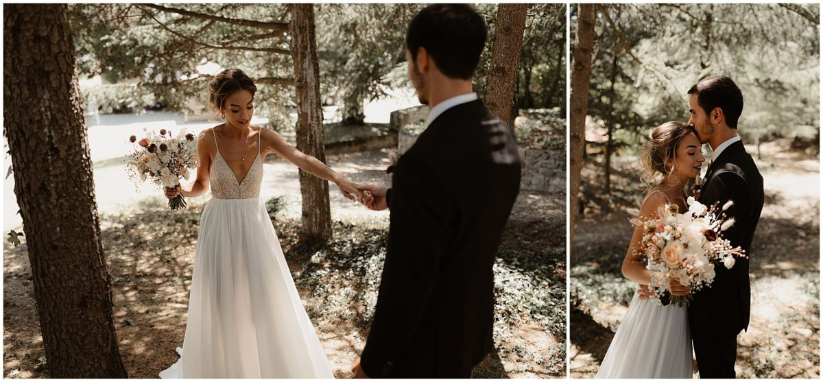 first look mariage photo