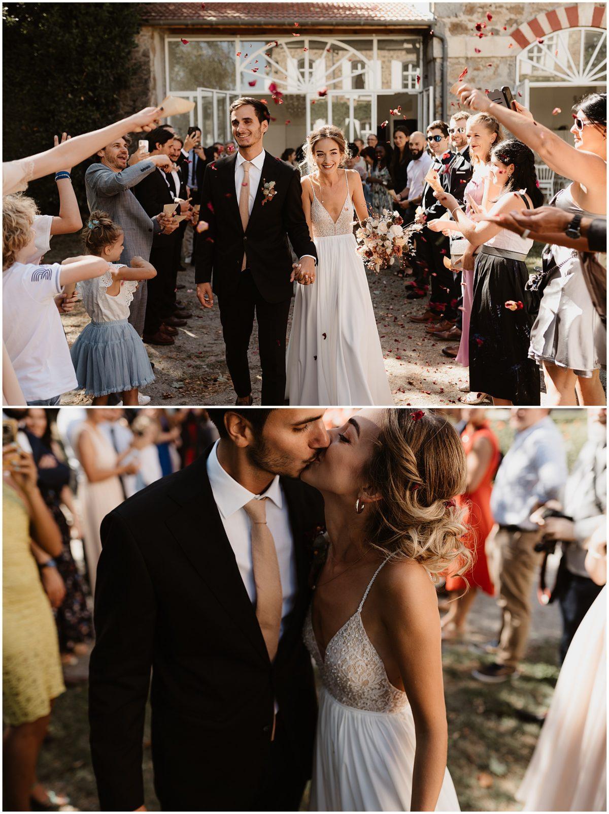 cérémonie mariage château des gaudras