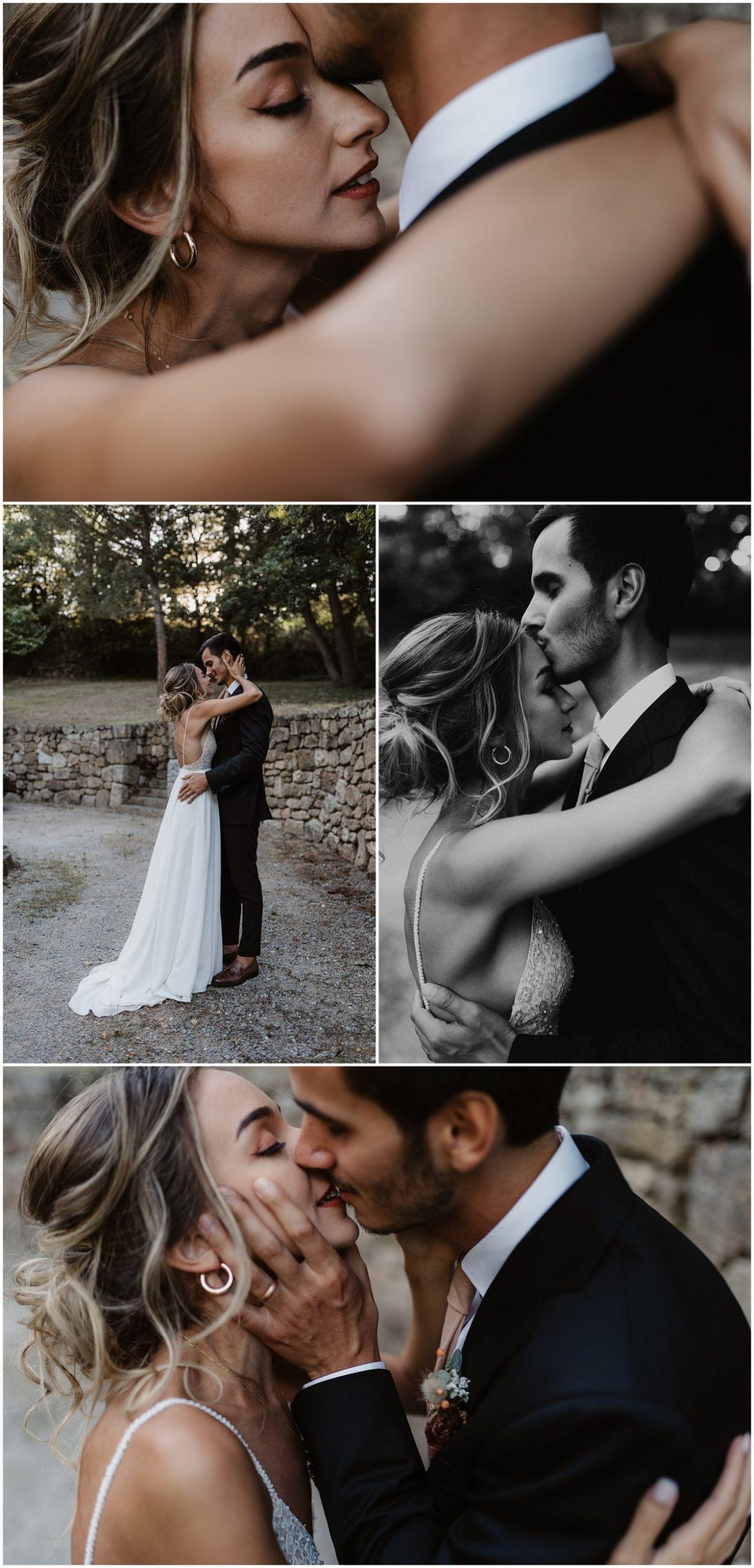 couple mariage château des Gaudras
